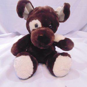 Build-A-Bear Dark Brown Dog w/eye patch